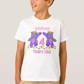 Camiseta Nome do costume do aniversário da princesa