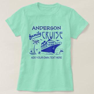 Camiseta Nome do costume do navio das férias do cruzeiro da
