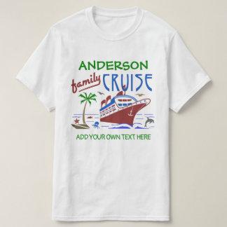 Camiseta Nome feito sob encomenda do navio | das férias do