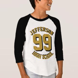 Camiseta Nome super e número da fantasia do fã do segundo