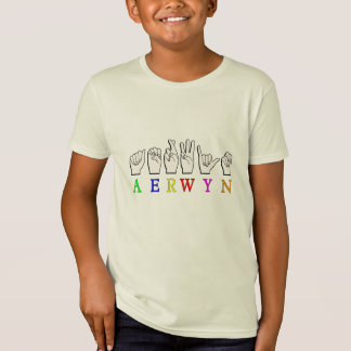 CAMISETA NOME SURDO DO SINAL DE AERWYN FINGERSPELLED ASL
