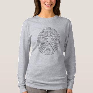 Camiseta Nomes de grupo do pássaro em uma forma do ovo