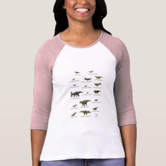 Camiseta Nomes dos dinossauros