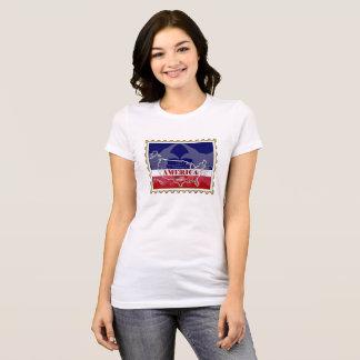 Camiseta Nomes dos estados dos EUA no t-shirt do selo