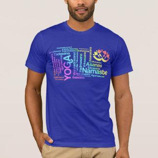 Camiseta Nomes elegantes da ioga do arco-íris das posições