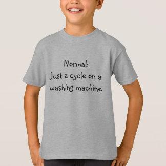 Camiseta Normal:  Apenas um ciclo em uma máquina de lavar