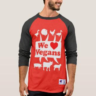 Camiseta Nós amamos os Vegans II (brancos)