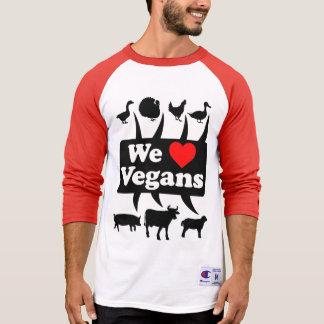 Camiseta Nós amamos Vegans II (o preto)