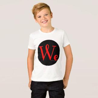 Camiseta Nós as pessoas arredondamos o t-shirt do miúdo do