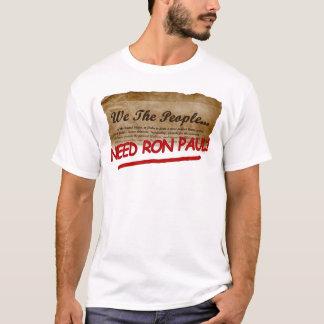 Camiseta nós as pessoas da cópia de Ron Paul