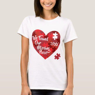 Camiseta Nós encontramos nossa parte faltante - coração do