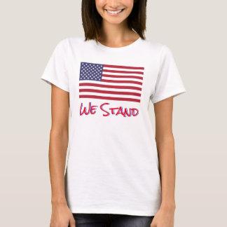Camiseta Nós estamos com a bandeira americana