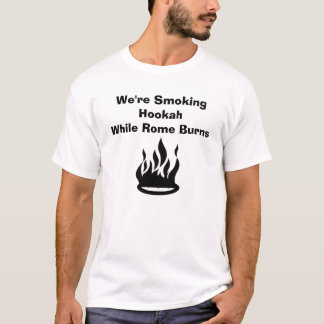 Camiseta Nós estamos fumando queimaduras de HookahWhile
