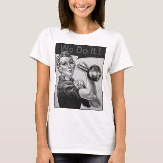 Camiseta Nós podemos fazê-lo o t-shirt B&W de Kettlebell