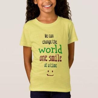 Camiseta Nós podemos mudar o inspirado bonito do mundo