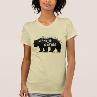 Camiseta Nós que as pessoas representam acima a natureza -