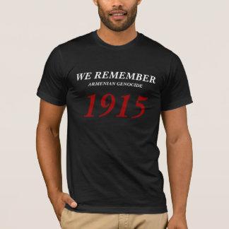 Camiseta Nós recordamos o genocídio arménio 1915