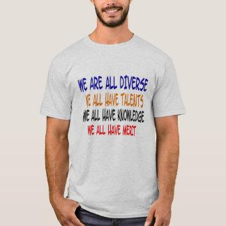 Camiseta Nós somos tudo t-shirt diverso