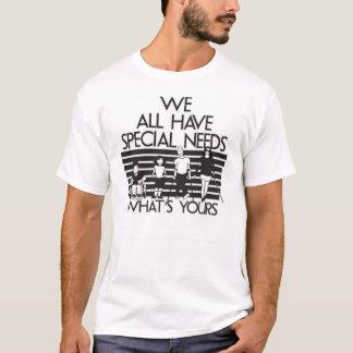 Camiseta Nós todos temos t-shirt especiais das necessidades