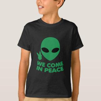 Camiseta Nós vimos na alienígena da paz