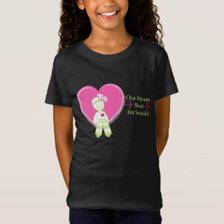 Camiseta Nossa batida de corações para Scarlett