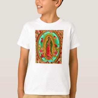 Camiseta Nossa Virgem Maria mexicana do santo da senhora