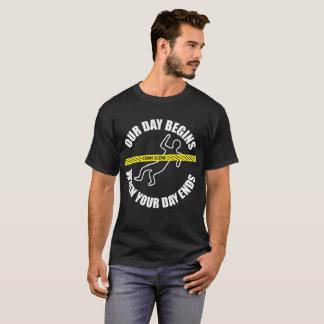 Camiseta Nosso dia começa quando seu dia termina o forense