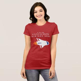 Camiseta Nosso navio favorito de Rocket