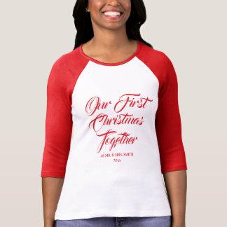 Camiseta Nosso primeiro do Natal Newlywed junto |