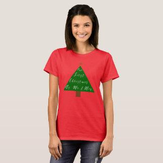 Camiseta Nosso primeiro Natal como o Sr. e a Sra.