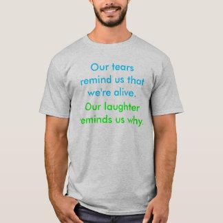 Camiseta Nossos rasgos lembram-nos que nós estamos vivos.,