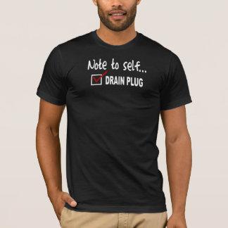 Camiseta Nota ao auto… Verifique a tomada de dreno