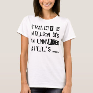 Camiseta Nota de resgate