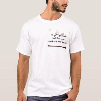 Camiseta Nota dos biscoitos da manteiga de amendoim