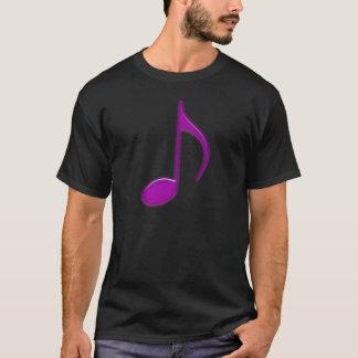 Camiseta Nota musical do roxo a 8a grava a vista levantada