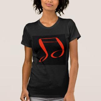 Camiseta Nota musical vermelha e preta