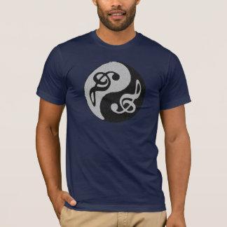 Camiseta nota musical yin-Yang
