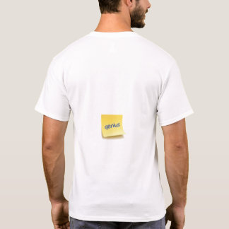 Camiseta Nota pegajosa do gênio