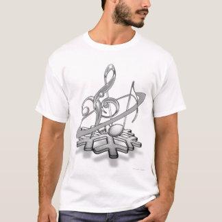 Camiseta Notas da música