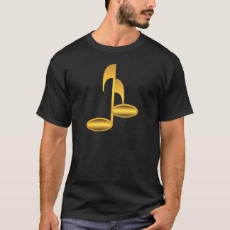 Camiseta Notas douradas da música