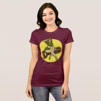 Camiseta Notícia bombástica da menina do Pinup, Latina
