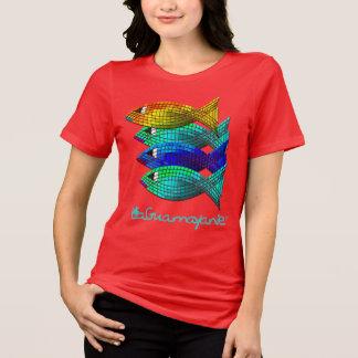 Camiseta Notícia duvidoso da raça dos peixes por