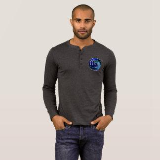 Camiseta Noturno azul bonito da espiral da safira da