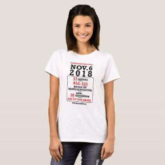 Camiseta Nov.6, 2018 - vote-os para fora