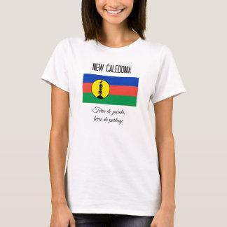 Camiseta Nova Caledônia, bandeira e divisa (francos)