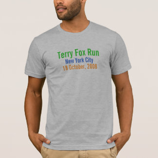 Camiseta Nova Iorque, funcionamento do Fox de Terry, o 18