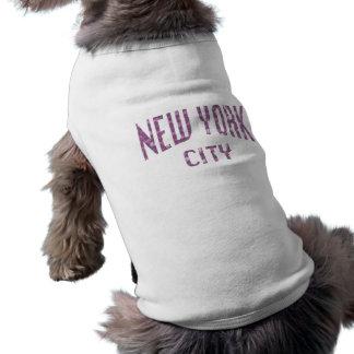 Camiseta Nova Iorque no rosa do rosa do primavera