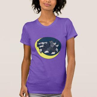 Camiseta Nove ataram Fox de prata (Kitsune)