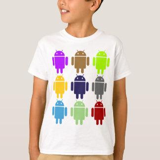Camiseta Nove inseto Droids (humor múltiplo das cores do