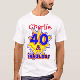 Camiseta Novidade fabulosa personalizada engraçada do